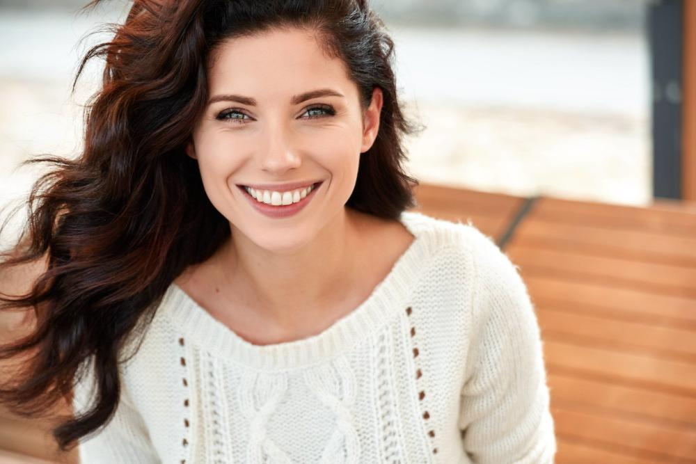 Woman smiling | Dentist Springfield IL