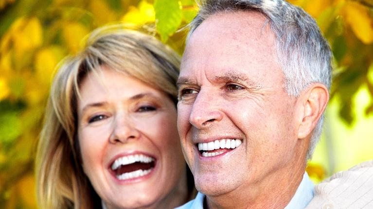 older couple smiling | Root Canals Springfield IL
