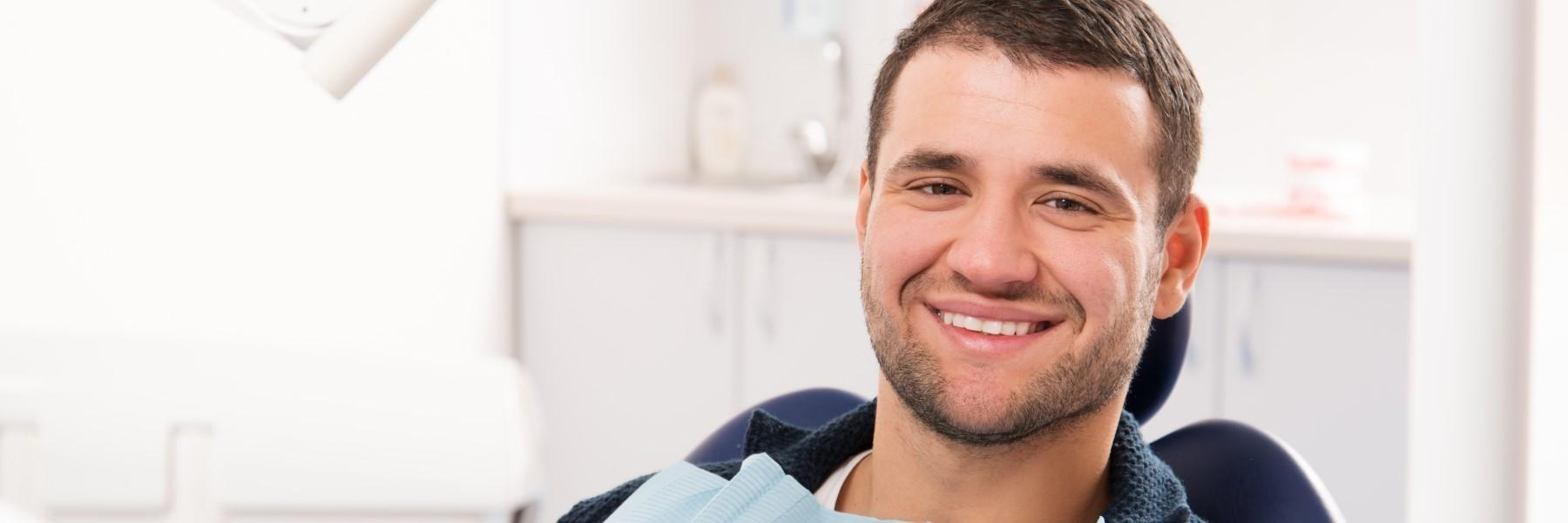 Man smiling in dental chair | Springfield IL Dentist