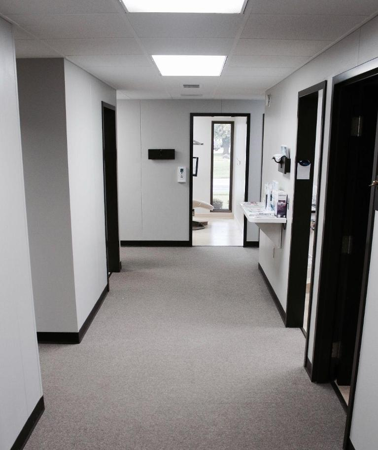 office hallway | ruggless dental | springfield il